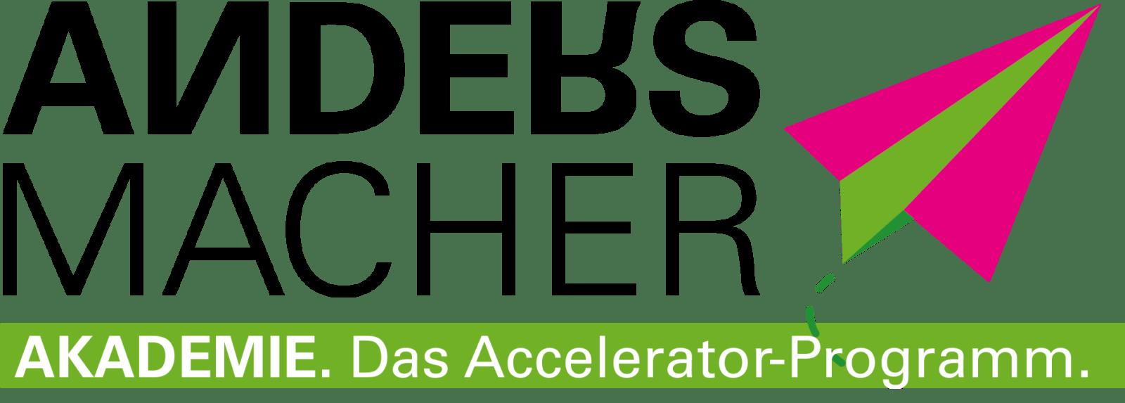 Andersmacher Grafiken für Akademie, das Accelerator-Programm