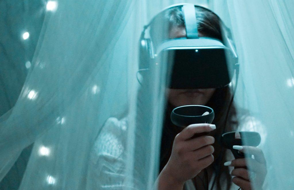 Prof. Dr. Gregor Lux und das Team vom Virtual Reality Festival
